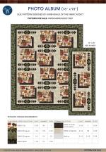 Photo Album (Quilt: 76 x 93 | Runner: 72 x 29) by The Fabric Addict