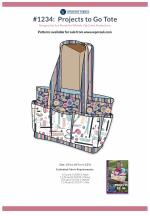 #1234 Projects To-Go Tote (13 x 10 x 4-1/2) by Sue Marsh