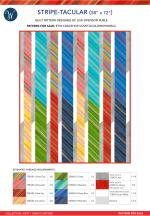 Stripe-tacular (58 x 72) by Lisa Swenson Ruble
