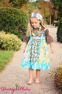 Yvette's Stripwork Knot Dress by Create Kids Couture